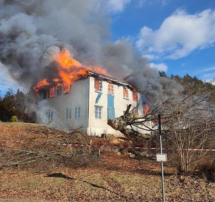 Brannøvelse på Lillegården